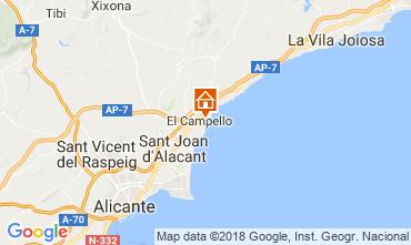 Mappa El Campello Appartamento 113561
