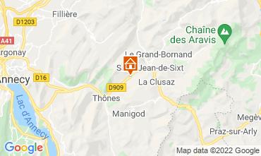 Mappa La Clusaz Appartamento 72766