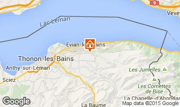 Mappa Evian les Bains Appartamento 92987