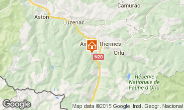 Mappa Ax Les Thermes Chalet 67769