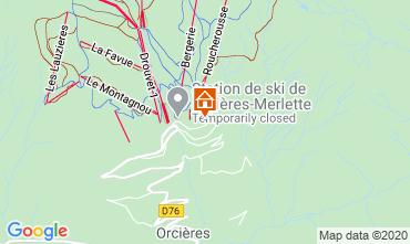 Mappa Orcières Merlette Appartamento 85409