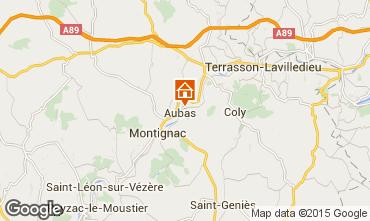 Mappa Montignac sur V�z�re (Grottes de Lascaux) B&B 62910
