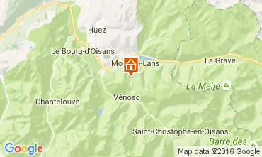 Mappa Les 2 Alpes Appartamento 106447
