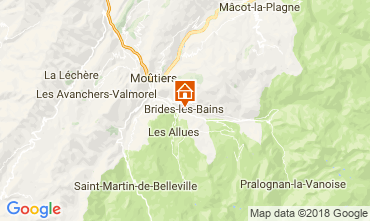 Mappa Brides Les Bains Appartamento 114912
