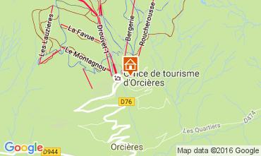 Mappa Orcières Merlette Appartamento 57846