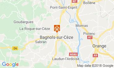 Mappa Bagnols sur Cèze Agriturismo 116366