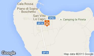 Mappa San Vito lo Capo Appartamento 63922