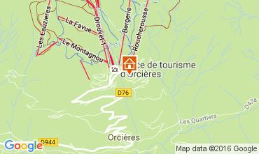 Mappa Orcières Merlette Appartamento 2053