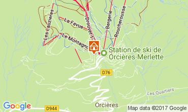 Mappa Orcières Merlette Appartamento 2078