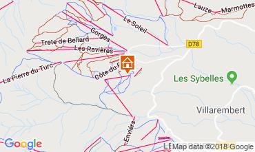 Mappa La Toussuire Appartamento 116507