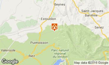 Mappa Moustiers Sainte Marie Villa  102942