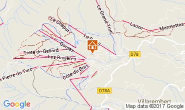 Mappa La Toussuire Appartamento 107180