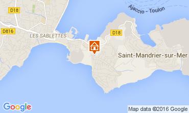 Mappa Saint Mandrier sur Mer Monolocale 84869