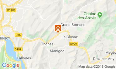 Mappa La Clusaz Appartamento 117583
