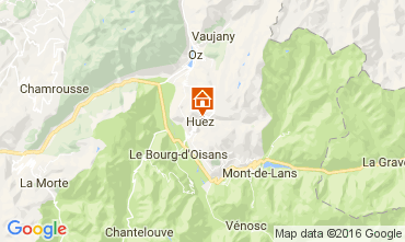 Mappa Alpe d'Huez Chalet 14816