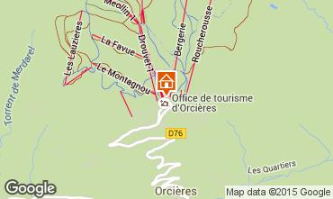 Mappa Orcières Merlette Monolocale 38824