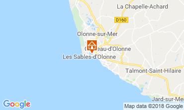 Mappa Les  Sables d'Olonne Casa 117483