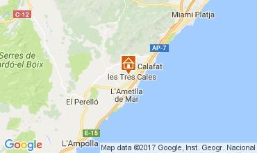 Mappa La Ametlla de Mar Villa  110101