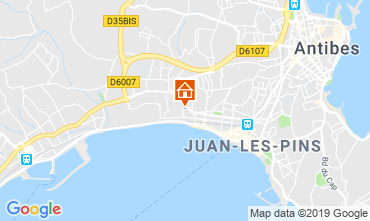 Mappa Juan les Pins Appartamento 86704