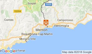 Mappa Menton (Mentone) Appartamento 104588