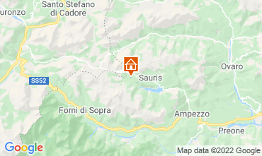 Mappa Forni di Sopra Chalet 71068