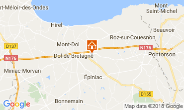 Mappa Dol-de-Bretagne Casa 114331