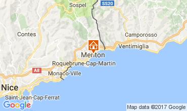 Mappa Menton (Mentone) Appartamento 107752