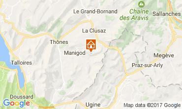 Mappa Manigod-Croix Fry/L'étale-Merdassier Appartamento 108269