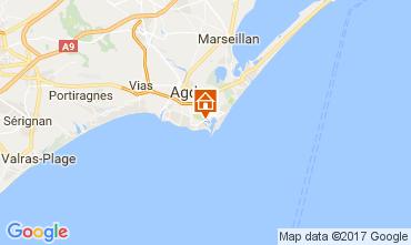 Mappa Cap d'Agde Appartamento 6186