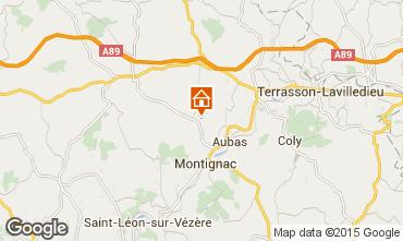 Mappa Montignac sur V�z�re (Grottes de Lascaux) Agriturismo 77698