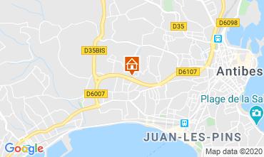 Mappa Juan les Pins Appartamento 32363