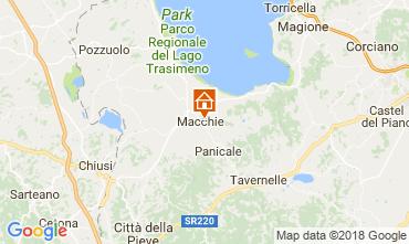 Mappa Castiglione del Lago Appartamento 108079