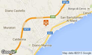 Mappa Diano Marina Appartamento 76277
