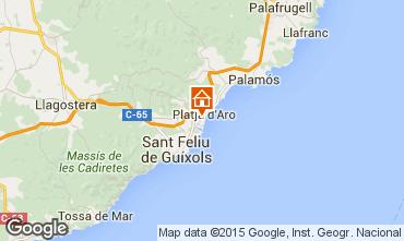 Mappa Playa d'Aro Appartamento 77393