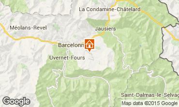 Mappa Le Sauze Appartamento 58808