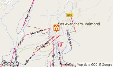 Mappa Valmorel Appartamento 3498