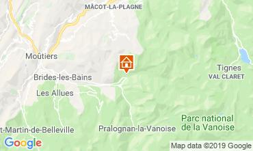Mappa Champagny en Vanoise Chalet 577