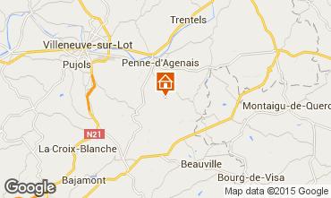 Mappa Penne d'Agenais Agriturismo 74533