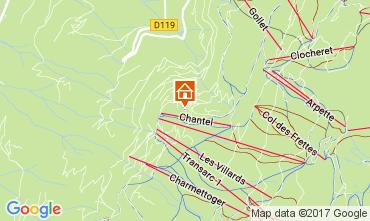 Mappa Les Arcs Appartamento 111955
