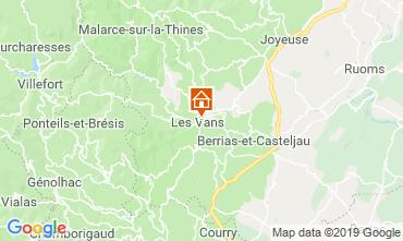 Mappa Les Vans Agriturismo 119245