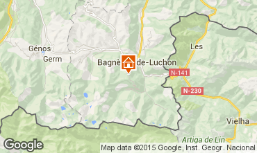 Mappa Luchon Superbagneres Appartamento 25988
