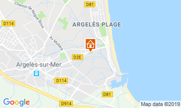 Mappa Argeles sur Mer Appartamento 108956
